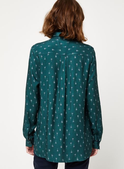 Vêtements Cuisse de Grenouille SHIRT - DOUBLE COLLAR Vert vue portées chaussures