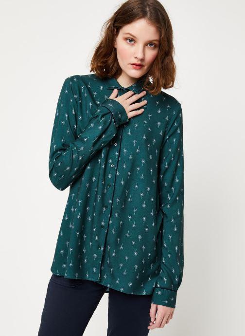 Vêtements Cuisse de Grenouille SHIRT - DOUBLE COLLAR Vert vue droite