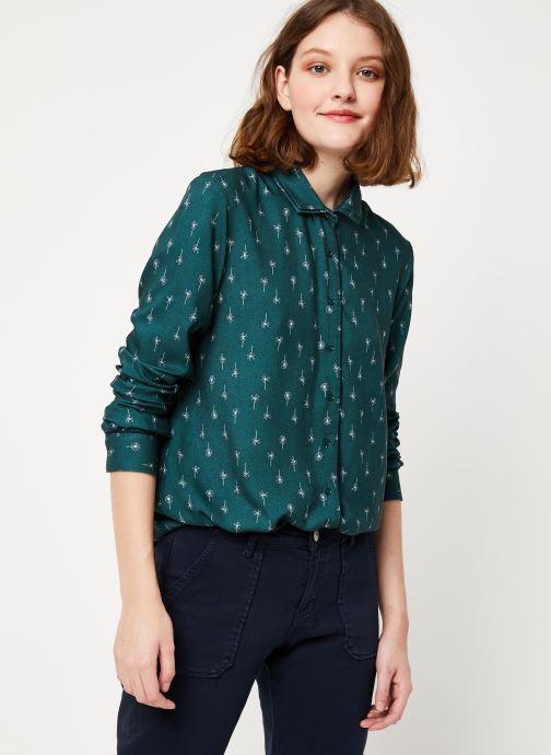 Vêtements Cuisse de Grenouille SHIRT - DOUBLE COLLAR Vert vue détail/paire