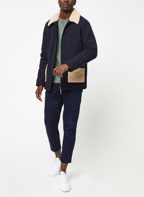 Vêtements Cuisse de Grenouille SWEATSHIRT - CHEST POCKET F Vert vue bas / vue portée sac