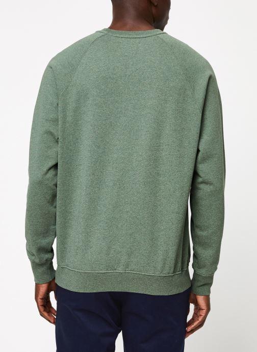 Vêtements Cuisse de Grenouille SWEATSHIRT - CHEST POCKET F Vert vue portées chaussures