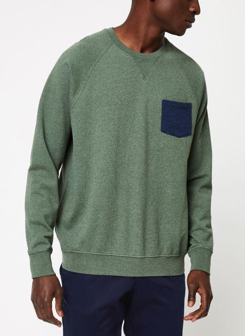 Vêtements Cuisse de Grenouille SWEATSHIRT - CHEST POCKET F Vert vue droite