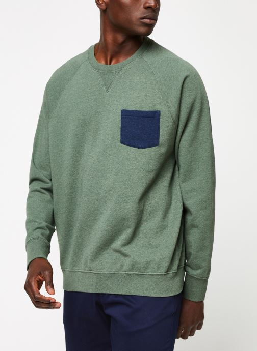 Vêtements Cuisse de Grenouille SWEATSHIRT - CHEST POCKET F Vert vue détail/paire