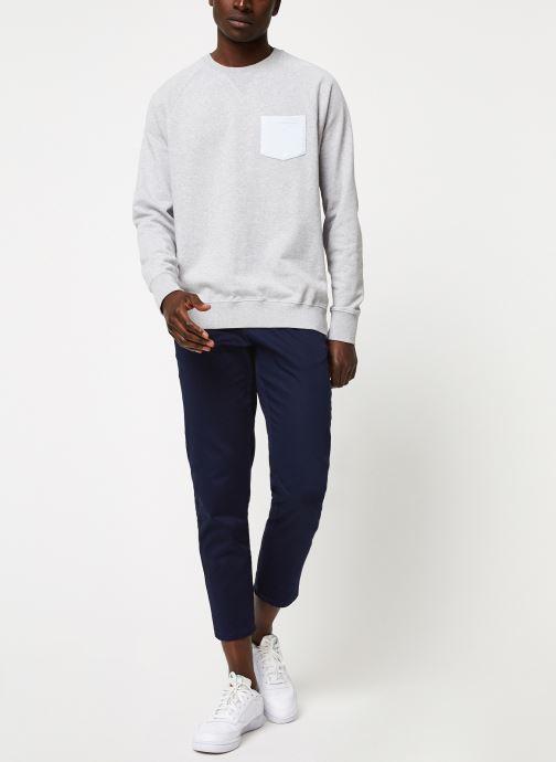 Vêtements Cuisse de Grenouille SWEATSHIRT - CHEST POCKET F Gris vue bas / vue portée sac