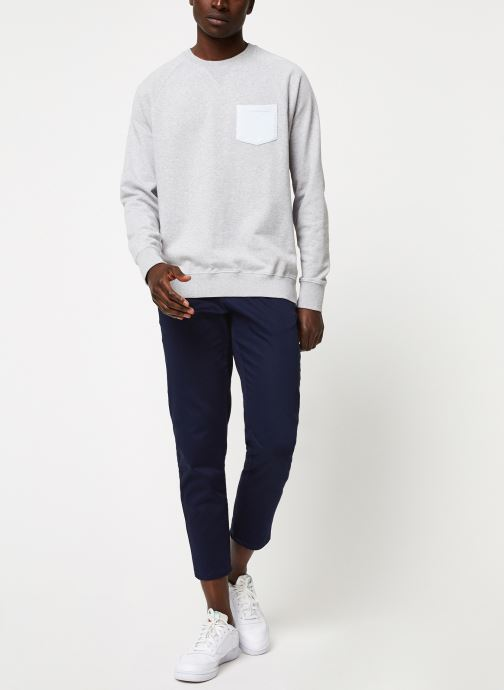 Vêtements Cuisse de Grenouille SWEATSHIRT - CHEST POCKET F Gris vue bas / vue portée sac
