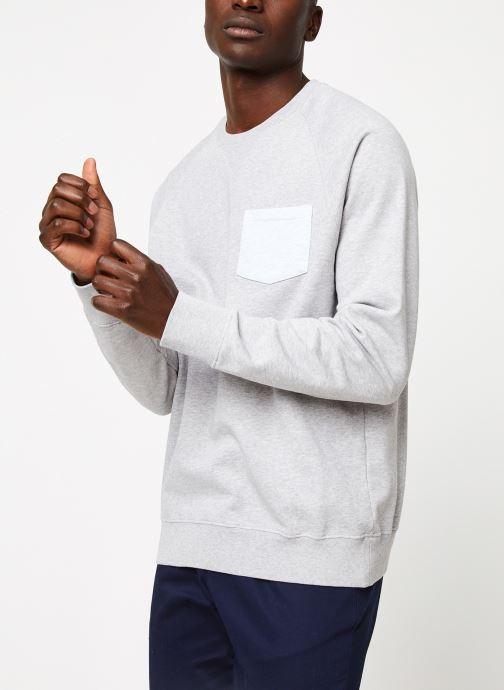 Vêtements Cuisse de Grenouille SWEATSHIRT - CHEST POCKET F Gris vue droite