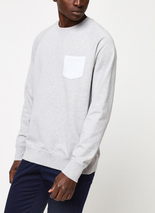 Kleding Cuisse de Grenouille SWEATSHIRT - CHEST POCKET F Grijs detail
