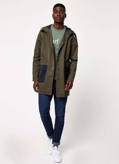 Vêtements Cuisse de Grenouille TEE-SHIRT - SURF IN PARIS F Vert vue bas / vue portée sac