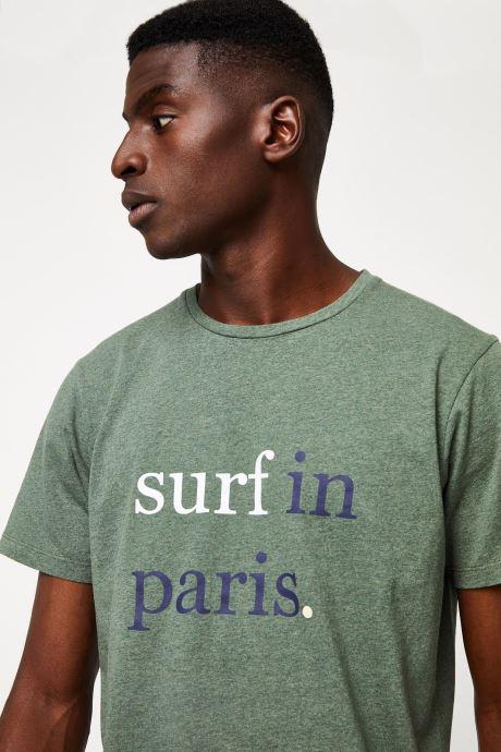 Vêtements Cuisse de Grenouille TEE-SHIRT - SURF IN PARIS F Vert vue face