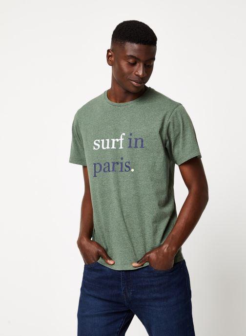 Vêtements Cuisse de Grenouille TEE-SHIRT - SURF IN PARIS F Vert vue droite