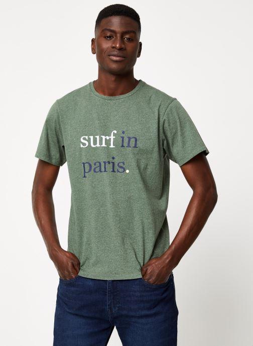 Vêtements Cuisse de Grenouille TEE-SHIRT - SURF IN PARIS F Vert vue détail/paire