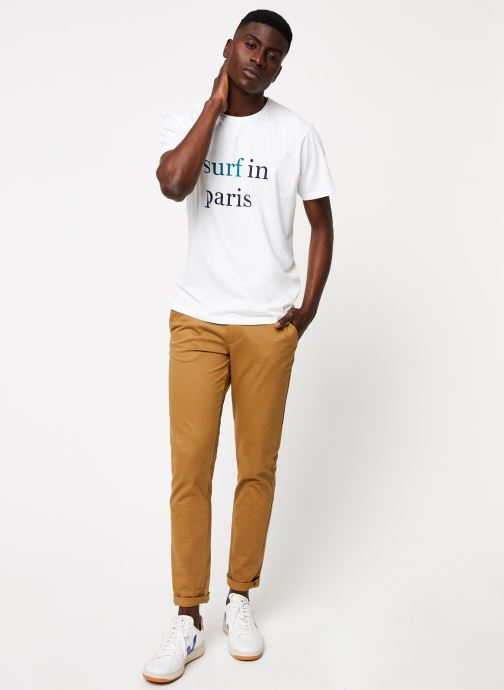 Vêtements Cuisse de Grenouille TEE-SHIRT - SURF IN PARIS F Blanc vue bas / vue portée sac