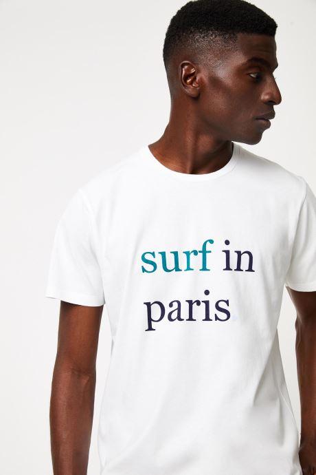 Vêtements Cuisse de Grenouille TEE-SHIRT - SURF IN PARIS F Blanc vue face