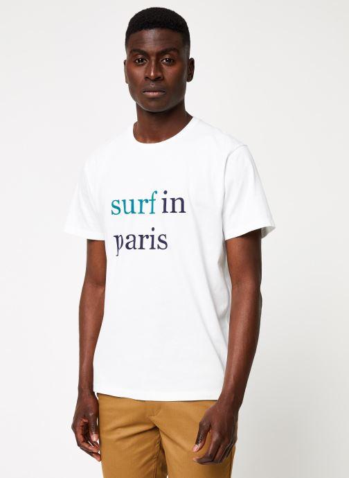 Vêtements Cuisse de Grenouille TEE-SHIRT - SURF IN PARIS F Blanc vue droite