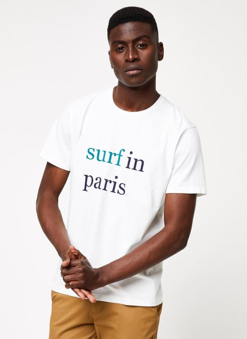 Vêtements Cuisse de Grenouille TEE-SHIRT - SURF IN PARIS F Blanc vue détail/paire