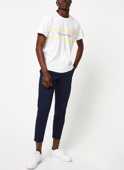 Vêtements Cuisse de Grenouille TEE-SHIRT - PRINT GALET F Blanc vue bas / vue portée sac