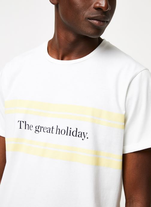 Vêtements Cuisse de Grenouille TEE-SHIRT - PRINT GALET F Blanc vue face
