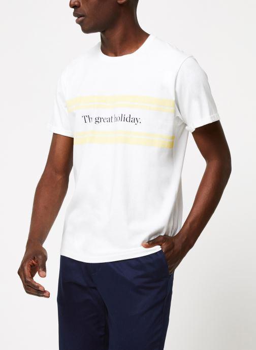 Vêtements Cuisse de Grenouille TEE-SHIRT - PRINT GALET F Blanc vue droite