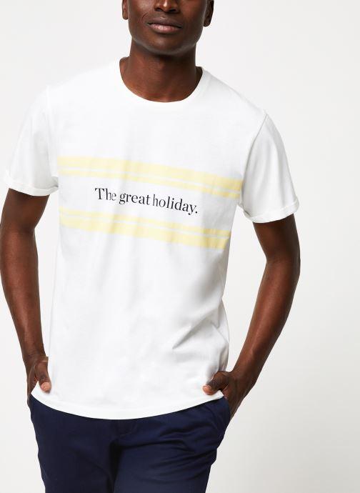 Vêtements Cuisse de Grenouille TEE-SHIRT - PRINT GALET F Blanc vue détail/paire