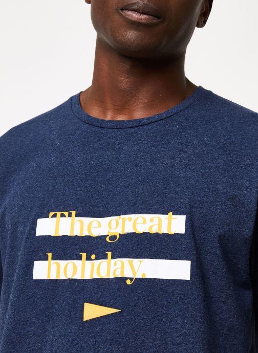 Vêtements Cuisse de Grenouille TEE-SHIRT - THE GREAT HOLIDAY Bleu vue face