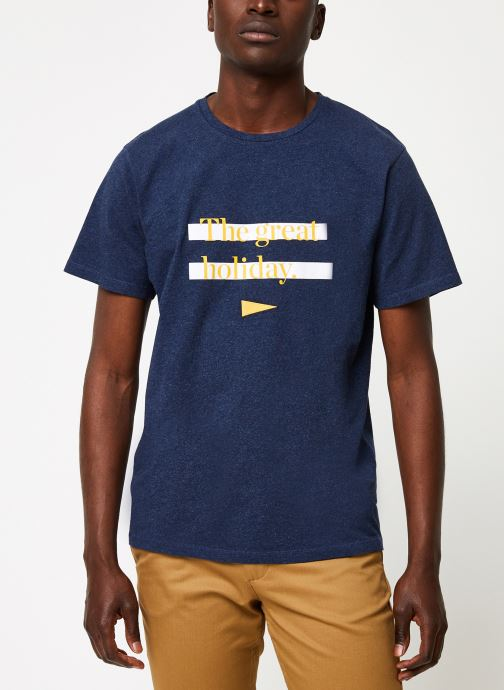 Kleding Cuisse de Grenouille TEE-SHIRT - THE GREAT HOLIDAY Blauw rechts