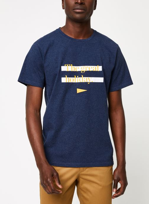 Kleding Cuisse de Grenouille TEE-SHIRT - THE GREAT HOLIDAY Blauw detail