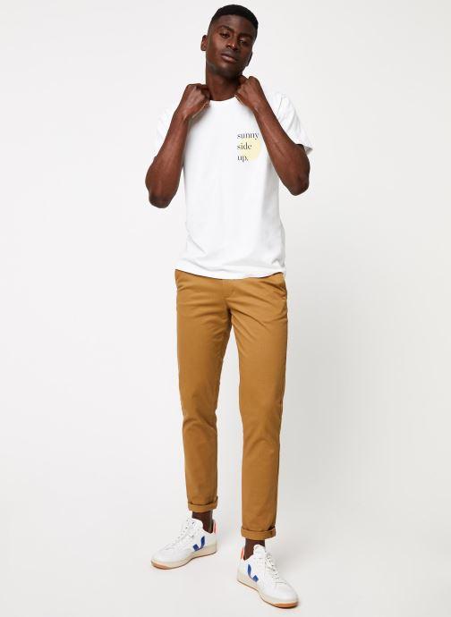 Vêtements Cuisse de Grenouille TEE-SHIRT - PRINT GANG F Blanc vue bas / vue portée sac