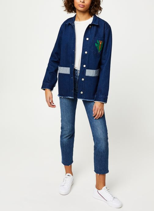 Vêtements Cuisse de Grenouille JACKET - DENIM JACKET F Bleu vue bas / vue portée sac