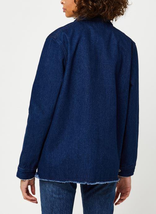 Vêtements Cuisse de Grenouille JACKET - DENIM JACKET F Bleu vue portées chaussures
