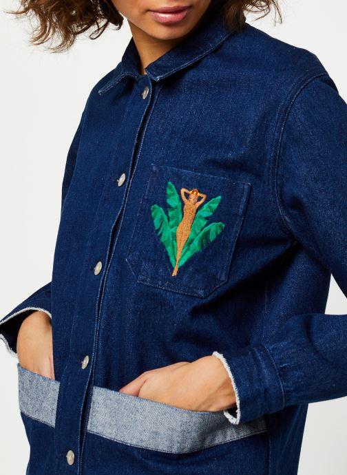 Vêtements Cuisse de Grenouille JACKET - DENIM JACKET F Bleu vue face