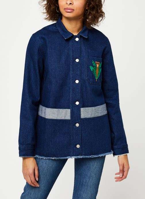 Vêtements Cuisse de Grenouille JACKET - DENIM JACKET F Bleu vue droite