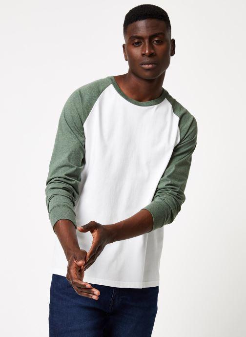Vêtements Cuisse de Grenouille TEE-SHIRT - LONG SLEEVES BASEBALL Blanc vue détail/paire