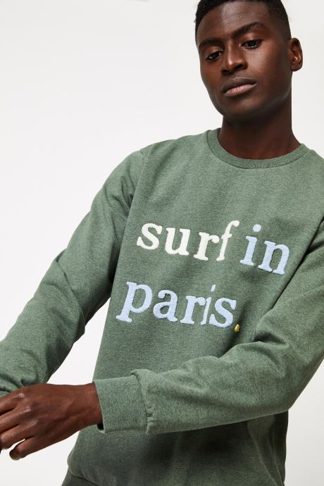 Kleding Cuisse de Grenouille SWEATSHIRT - SURF IN PARIS F Groen voorkant