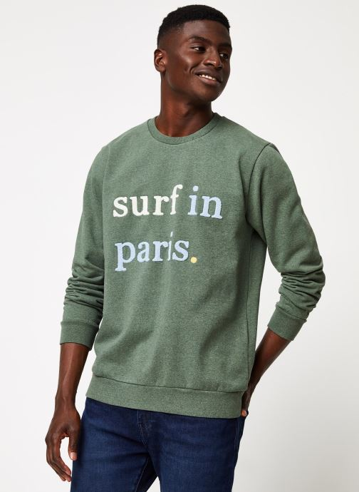 Vêtements Cuisse de Grenouille SWEATSHIRT - SURF IN PARIS F Vert vue détail/paire