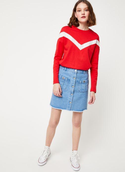 Vêtements Cuisse de Grenouille SKIRT - DENIM SKIRT Bleu vue bas / vue portée sac