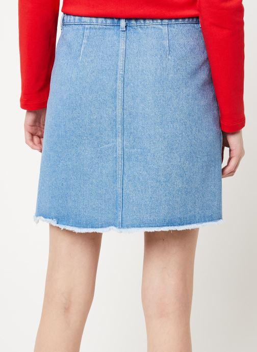 Vêtements Cuisse de Grenouille SKIRT - DENIM SKIRT Bleu vue portées chaussures