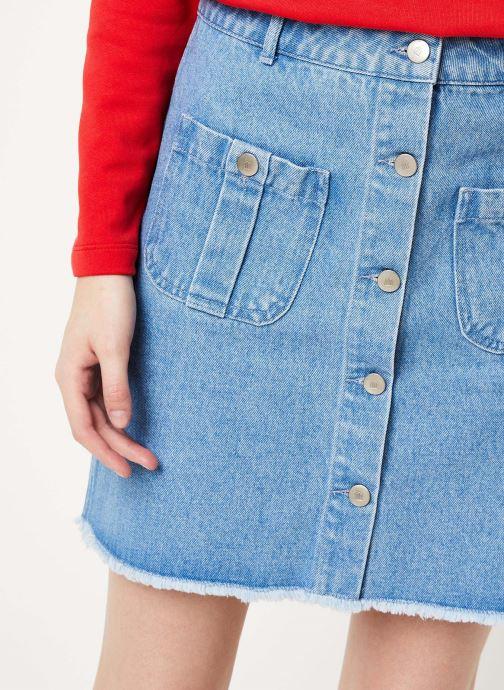 Vêtements Cuisse de Grenouille SKIRT - DENIM SKIRT Bleu vue face