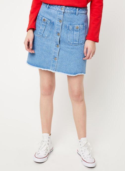 Vêtements Cuisse de Grenouille SKIRT - DENIM SKIRT Bleu vue détail/paire
