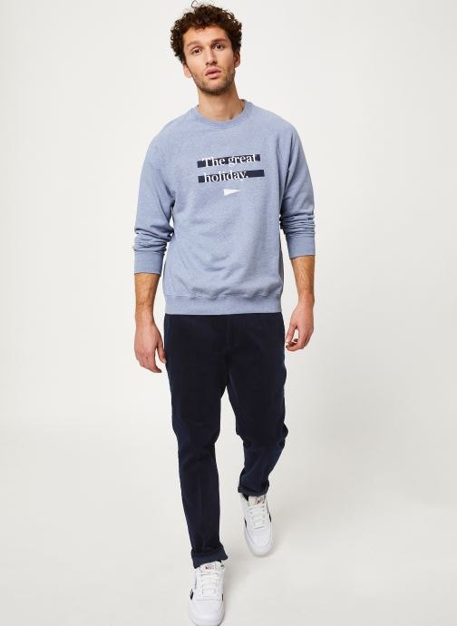 Vêtements Cuisse de Grenouille SWEATSHIRT - PRINT F Gris vue bas / vue portée sac