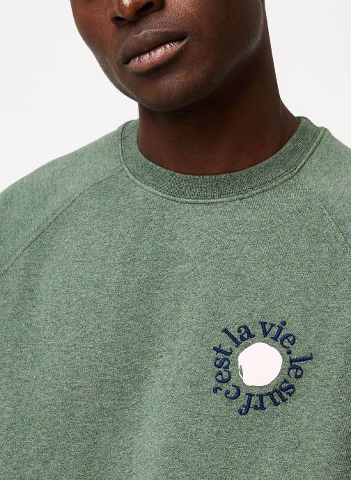 Vêtements Cuisse de Grenouille SWEATSHIRT - PRINT F Vert vue face