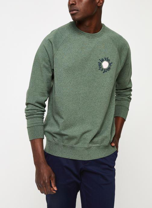 Vêtements Cuisse de Grenouille SWEATSHIRT - PRINT F Vert vue droite