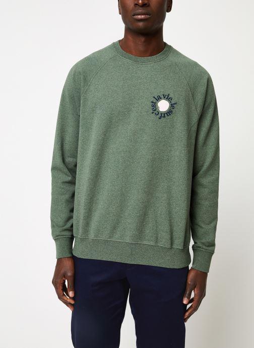 Vêtements Cuisse de Grenouille SWEATSHIRT - PRINT F Vert vue détail/paire