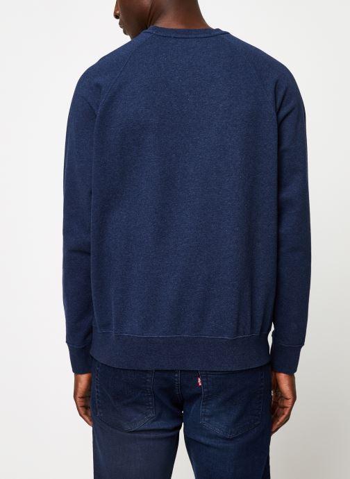 Vêtements Cuisse de Grenouille SWEATSHIRT - PRINT F Bleu vue portées chaussures
