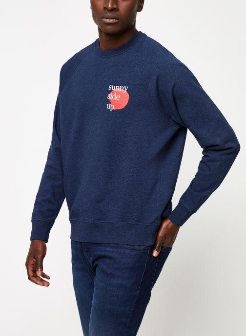Vêtements Cuisse de Grenouille SWEATSHIRT - PRINT F Bleu vue droite