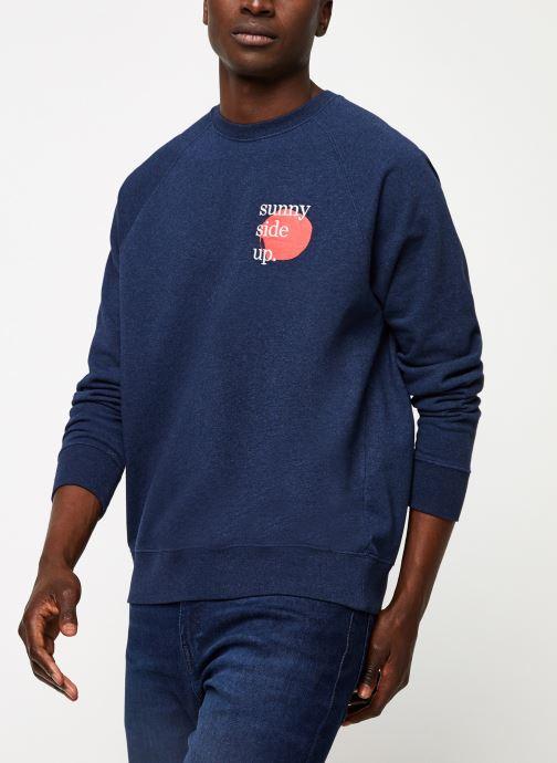 Vêtements Cuisse de Grenouille SWEATSHIRT - PRINT F Bleu vue détail/paire