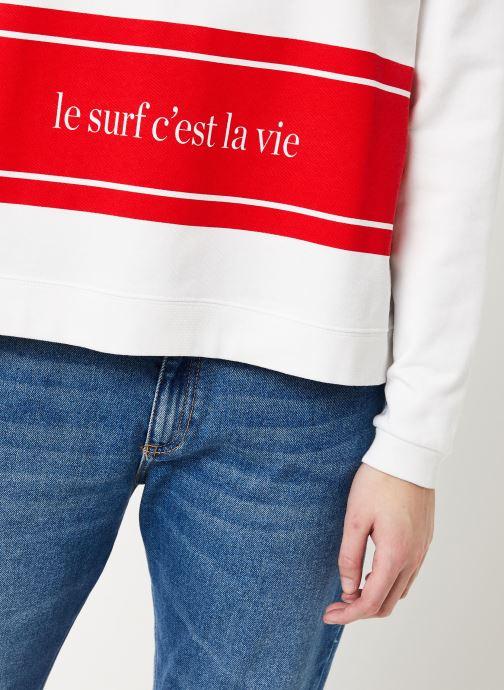 Kleding Cuisse de Grenouille SWEAT - LE SURF C'EST LA VIE PRINT F Wit voorkant