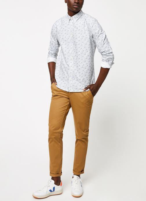 Vêtements Cuisse de Grenouille SHIRT - BUTTON DOWN F Gris vue bas / vue portée sac