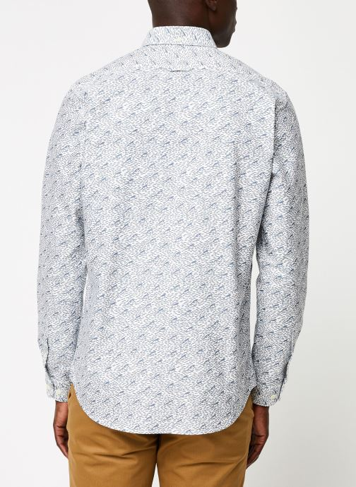 Vêtements Cuisse de Grenouille SHIRT - BUTTON DOWN F Gris vue portées chaussures