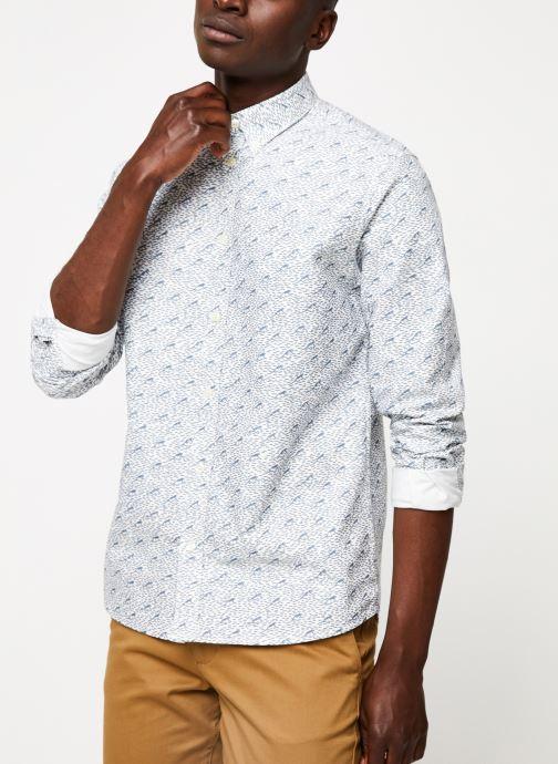Vêtements Cuisse de Grenouille SHIRT - BUTTON DOWN F Gris vue détail/paire
