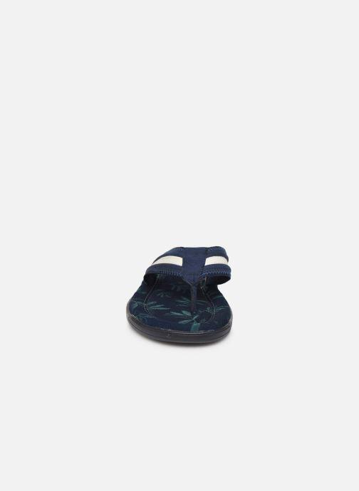 Tongs Roadsign Opali Bleu vue portées chaussures